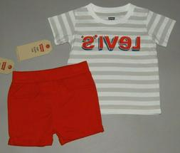 Baby boy clothes, 12 months, Levis 2 piece set/SEE DETAILS O