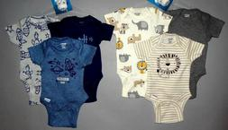 Baby boy clothes, 12 months, Gerber Organic 6 bodysuits/SEE
