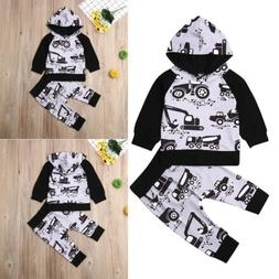 Baby Boy Girl Infant Clothes Autumn Winter Hooded Tops+Pants
