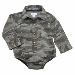 Mud Pie Baby Boy One-Piece Camo Crawler Size 9-12 Mos NEW