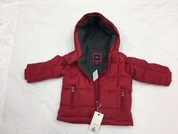 baby boy puffer jacket red coat size