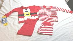 Gerber Baby Boys 4 Piece Holiday Cotton Pajama Set, Santa, S