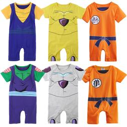 Baby Boys Dragon Ball Z Romper Costume Infant Jumpsuit Outfi