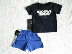 NIKE Baby Boys DRI-FIT Graphic Shirt and Shorts Set Outfit 1