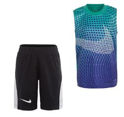 NIKE BABY BOYS DRI-FIT MUSCLE SHIRT SHORTS SET OUTFIT 12 18