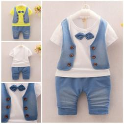 Baby Boys Gentleman clothes Sets Kids party Clothes For Scho