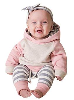 Baby Boys Girls Clothes Long Sleeve Hoodie Tops Sweatsuit Lo
