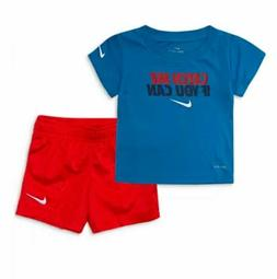 NIKE BABY BOYS SHIRT SHORTS CATCH ME IF YOU CAN 2PC SET OUTF