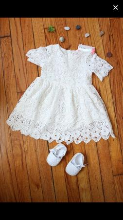baby clothes girl summer crochet dress with shoes 9-12 month