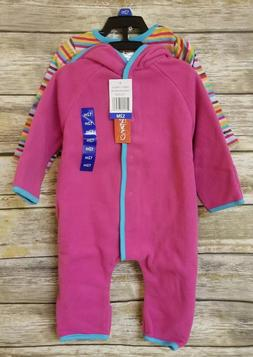 Zutano Baby Cozie Elf Hooded 2-pc Set FUSCHIA SUPER STRIPE G
