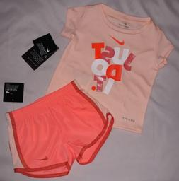 Nike Baby Girl 12M 24M T Shirt Shorts Bottoms Set Outfit 12