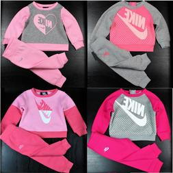 Nike Baby Girl 2 Piece Tracksuit Set Sweatshirt/Pants Warm O