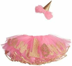 Baby Girl Birthday Tutu Hat One 1 Year 12 Months Pink Cute S