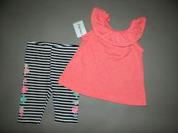 Baby girl clothes, 12 months, Carter's 2 piece play set/ SEE