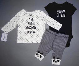 Baby girl clothes, 12 months, Carter's 3 piece set/SEE DETAI
