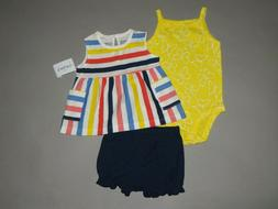 Baby girl clothes, 12 months, Carter's 3 piece set/New/ SEE
