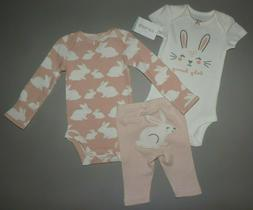 Baby girl clothes, 12 months, Carter's 3 piece set/NEW OUT/