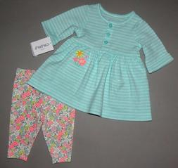 Baby girl clothes, 12 months, Carter's 2 piece set/SEE DETAI