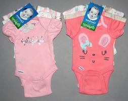 Baby girl clothes, 12 months, Gerber Organic Cotton 2 sets o