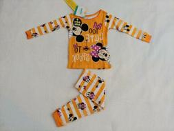 Disney Baby Girl Minnie Mouse Halloween Pajamas NWT 12 Month