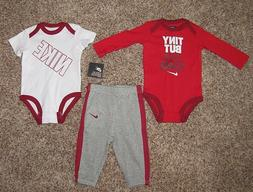 Nike Baby Girl Outfit Set 3-6, 6-9, 9-12 Months Bodysuit Pan
