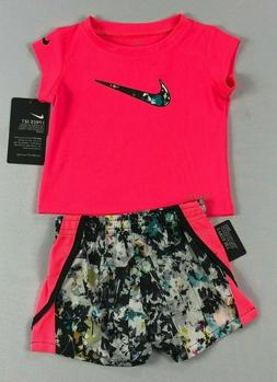 Baby Girl's Nike Shirt & Shorts 2 Piece Set Outfit
