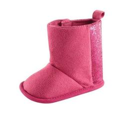 baby girl s sparkle pink booties 12