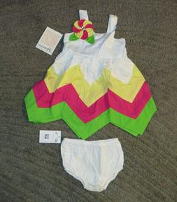 Bonnie Baby Baby Girls 2 Piece Outfit  - Size 12 Months - NW