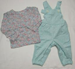 Baby girls Carter's 12 months floral overall set NEW WITH TA