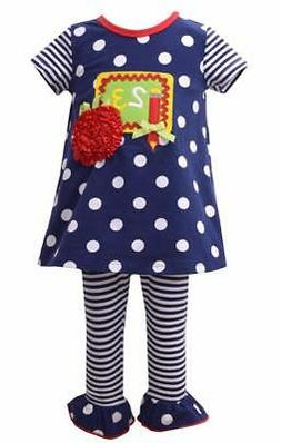 Bonnie Jean Baby Girls Chalkboard Tunic Top and Leggings 2 P