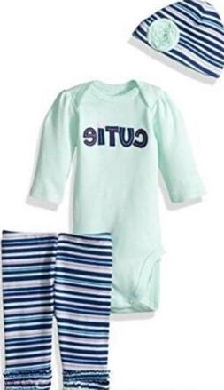 Gerber Baby Girl's CUTIE 3-Piece Outfit Size 12 Months New