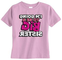 Threadrock Baby Girls I'm Going To Be A Big Sister Infant T-