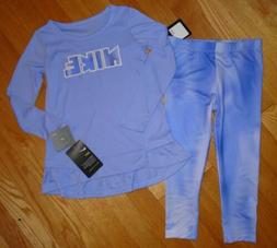 Nike Baby Girls Leggings Pants Shirt Set Outfit Toddler 12M