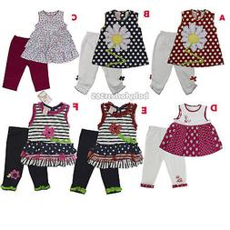 Baby Girls Outfits Clothes 2 Pc Shirt w Tunic Legging Size 3