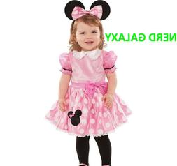 DISNEY, Baby Girls PINK Minnie Mouse Halloween Costume, NEW!