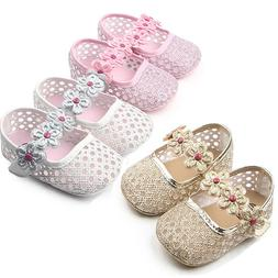 Baby Girls Princess Summer Shoes Crib First Walkers Mary Jan
