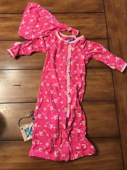 KicKee Pants Baby Girls' Print Layette Gown Baby - Flamingo