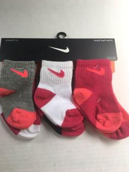Baby Nike Socks Size 6-12 Months 6 pairs Assorted Colors
