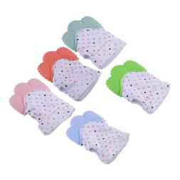 Baby Glove Silicone Teether Teething Wrapper Sound Teether M