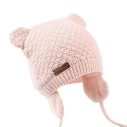 XIAOHAWANG Baby Hat Cute Bear Toddler Earflap Beanie Warm fo