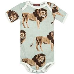 Milkbarn Baby Lion Bamboo Short Sleeve One Piece