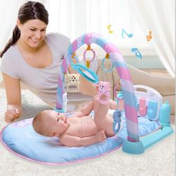 Baby Play Mats Gym For Infants 0-12 Months With Piano Activi