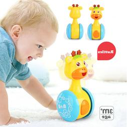 Baby Rattles Tumbler Doll Toy Music Learning Education Toys