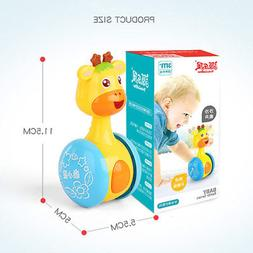 Baby Rattles Tumbler Doll Toys Bell Music Education Toys Gif