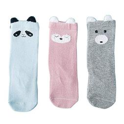 FQIAO Baby Socks Cotton 3Packs 6-12Months Unisex XS Size Car