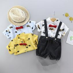 Fashion Baby Suit For Newborns Set Summer Baby Boys Cartoon