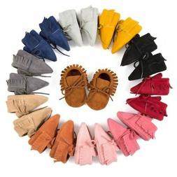 Baby Tassel Soft Sole Suede Shoes Infant Toddler Newborn Boy