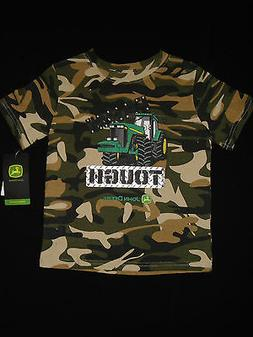 JOHN DEERE Baby Toddler Boy Camouflage Tough Tractor SS TShi