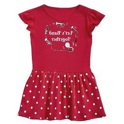 band together white text infant dress marching