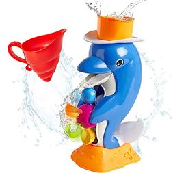 iPlay, iLearn Baby Bath Toy, Shower Bathtub Dolphin Spout, S